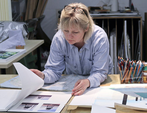 Lynne Wixon at work