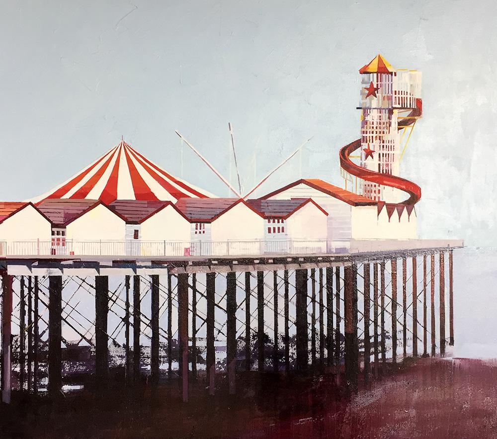 UK coast Herne Bay Pier