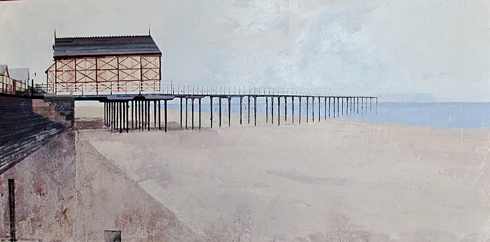 UK coast Saltburn Pier
