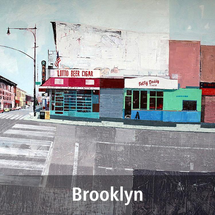 Lynne Wixon Brooklyn paintings