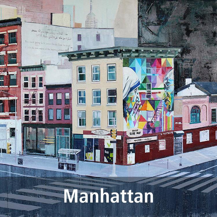 Lynne Wixon Manhattan paintings