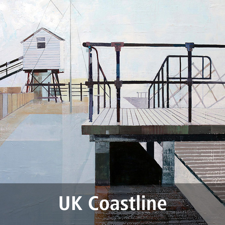 Lynne Wixon UK Coastline paintings